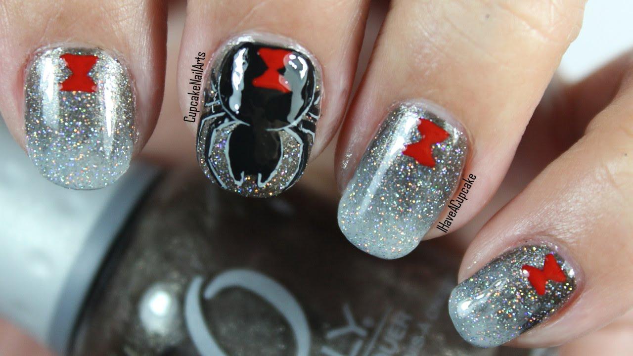 Nails Nail Art Black Widow