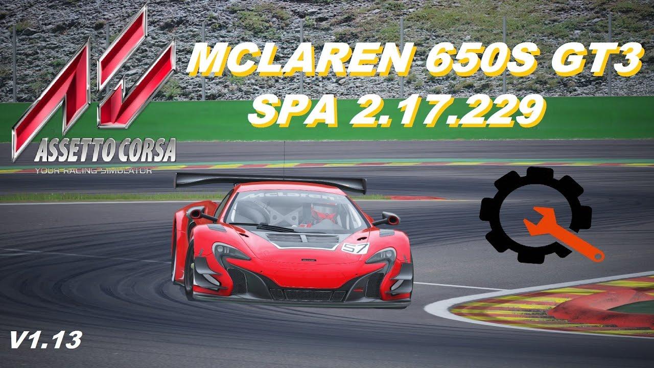 assetto corsa mclaren 650s gt3 spa 2.17.229 updated setup tyre model