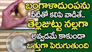 బంగాళాదుంపతో ఇలా చేస్తే I Potato for Hair Growth in Telugu I Hair Growth Tips I Everything in Telugu