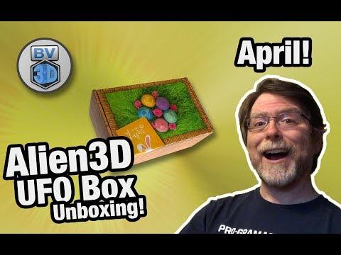 April 2019 Alien 3D UFO Box Unboxing