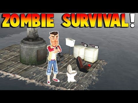 Gmod - ZOMBIE SURVIVAL & BOAT BUILDING! | Garry's Mod Gameplay | Gmod Gameplay Funny Moments