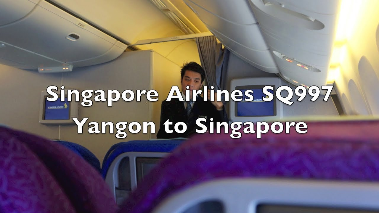 HD) Singapore Airlines Boeing 777-200 Economy Class Flight Report ...