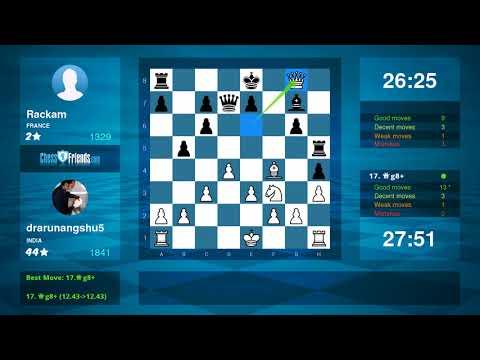 Chess Game Analysis: drarunangshu5 - Rackam : 1-0 (By ChessFriends.com)