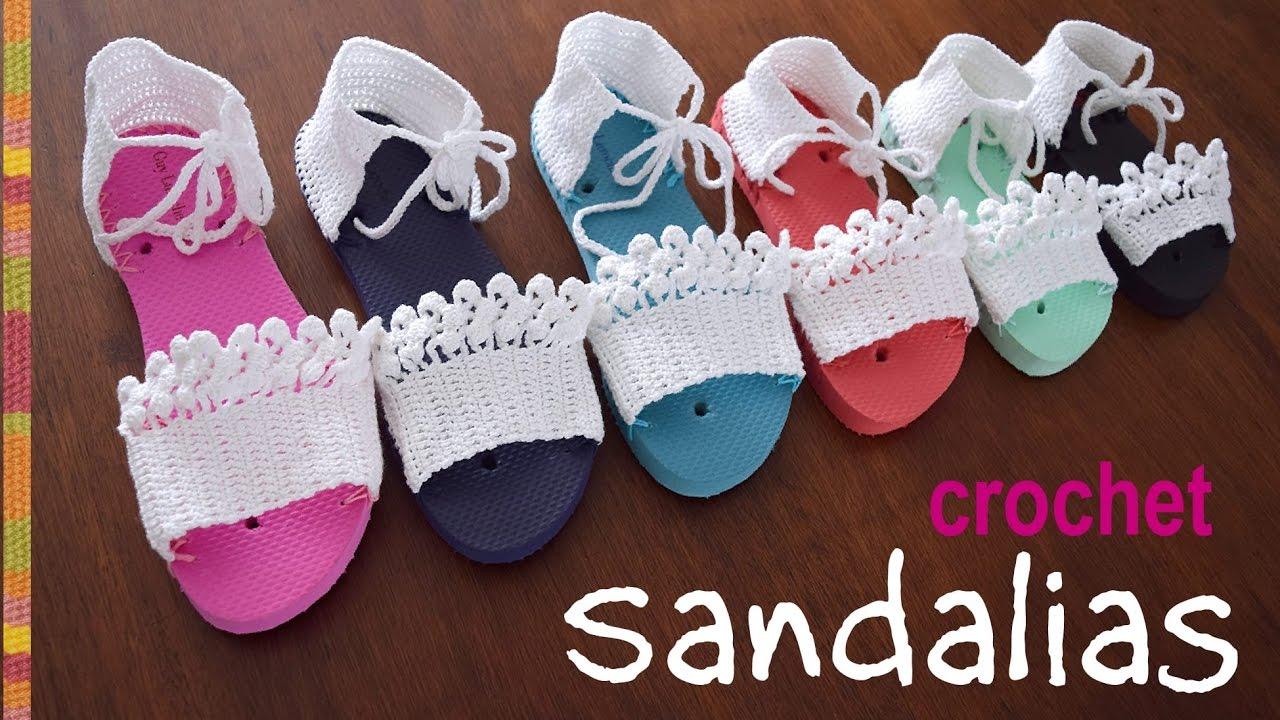 bddad2853 Sandalias tejidas a crochet en 7 tallas  Tejiendo Perú - YouTube
