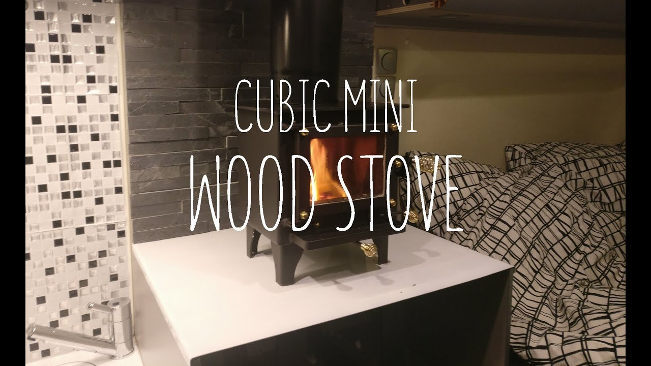 Tiny Wood Stove Install To Campervan Youtube