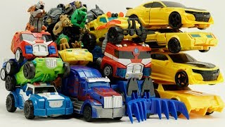Bumblebee, Grimlock, Optimus Prime Transformers combiner force Rescue Bots Robot truck car toys