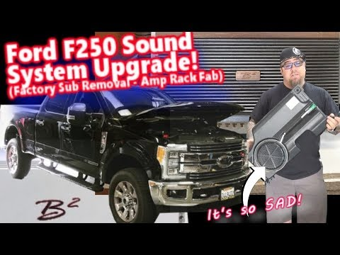 ford-f250-superduty-sound-system-upgrade-|-factory-subwoofer-removed-new-amp-rack-fabbed
