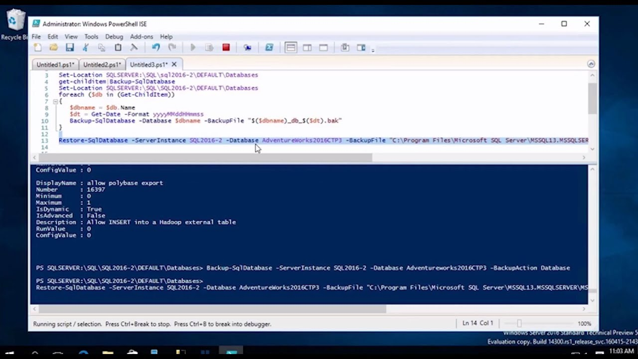 Managing SQL Server with PowerShell: Part 2 - The Tasks