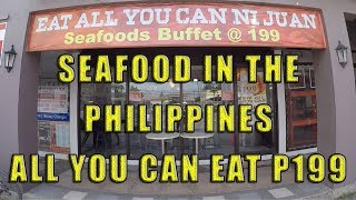 Seafood In The Philippines, all you can eat P199.00