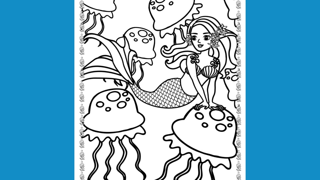 Mermaid Coloring Book Boys and Girls 4 -8 years old - Magical