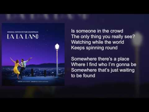 La La Land - Someone in the Crowd - Lyrics