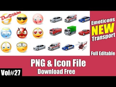 Icons Emoticons & Transport PNG Files Download Free Vol#27 [desimesikho] 2018