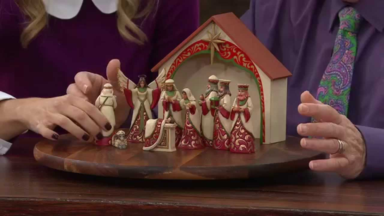 Jim Shore Heartwood Creek Ivory Gold 10 Piece Mini Nativity Set With Stacey Stauffer Youtube