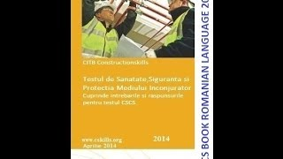 Carte CSCS 2016 Limba Romana descărca, CSCS Exam Book Romanian Language download