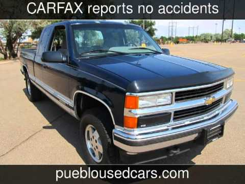 Used Cars Pueblo >> 1995 Chevrolet Silverado 1500 Ext Cab 4x4 Used Cars - Pueblo,Colorado - 2013-07-05 - YouTube
