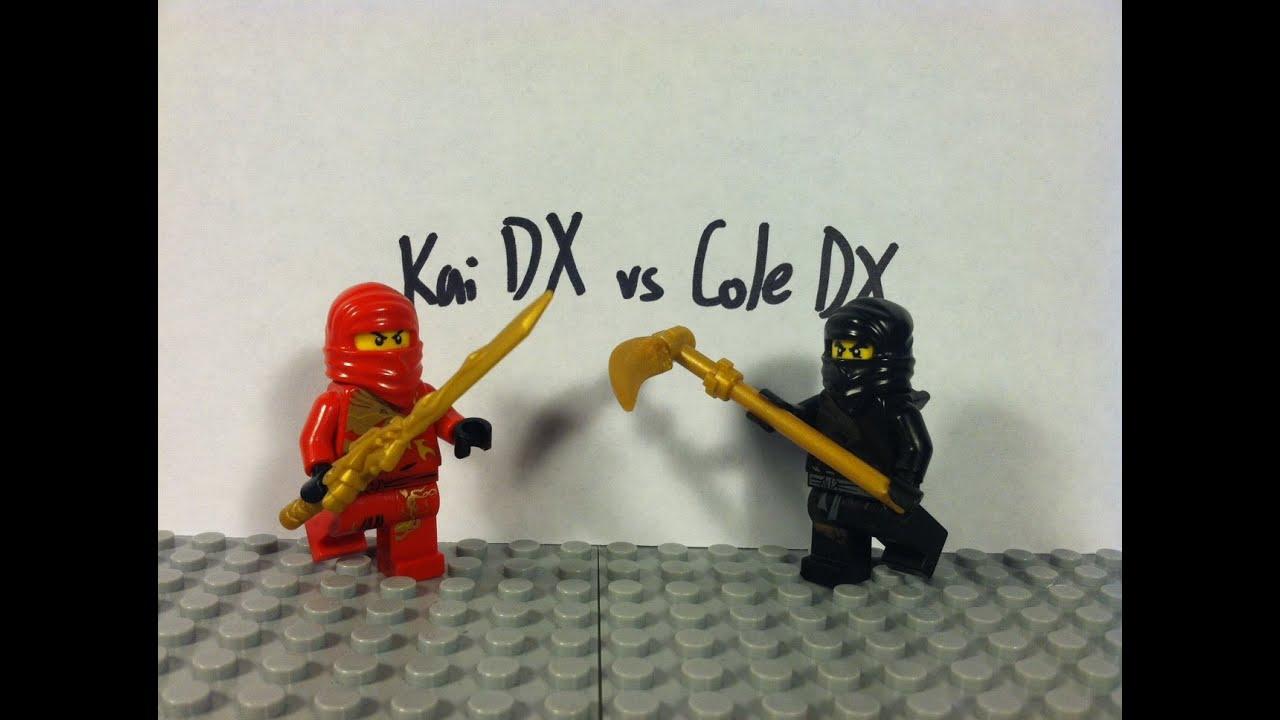 Lego Ninjago Kai Dx Vs Cole Dx Youtube
