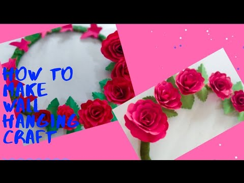 PAPER ROSE WALL HANGING| PAPER FLOWER WALL HANGING PAPER ROSE CRAFT  #SRCREATIONCRAFTCHANNEL