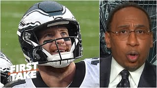 Stephen A. doesn't think Carson Wentz should be benched by the Eagles | First Take