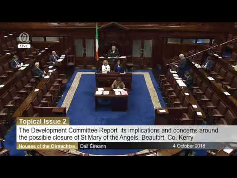St Mary of the Angels Martin Ferris Danny Healy Rae