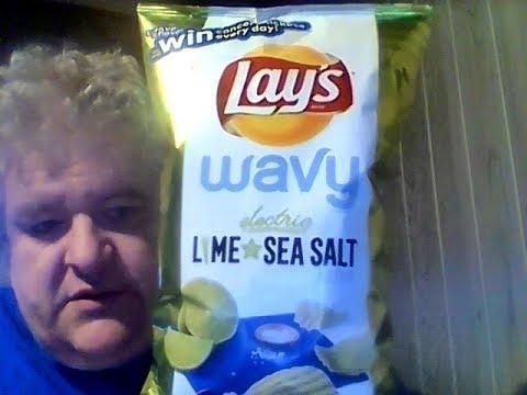 Lay's Electric Lime & Sea Salt Wavy Potato Chips
