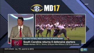 Will Muschamp at the Podium (SEC Media Days) — 7/13/17 thumbnail