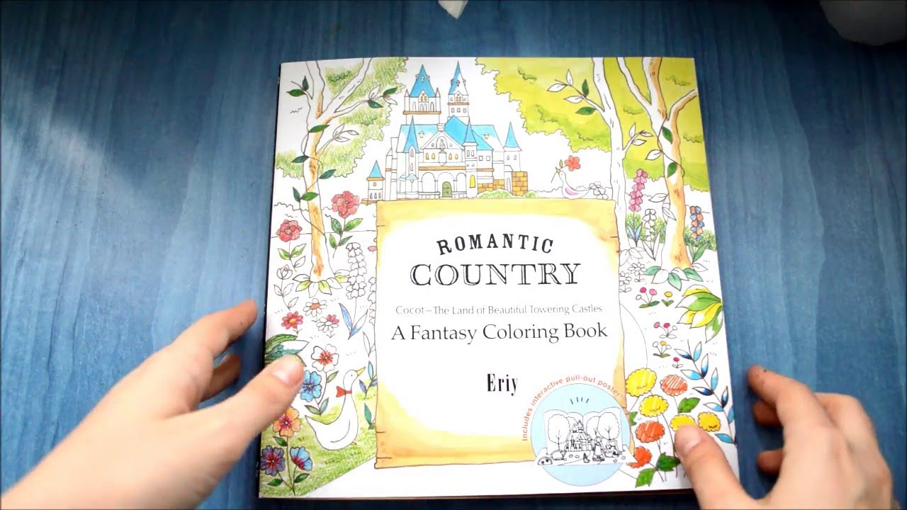 Romantic Country Colouring Book Eriy Youtube