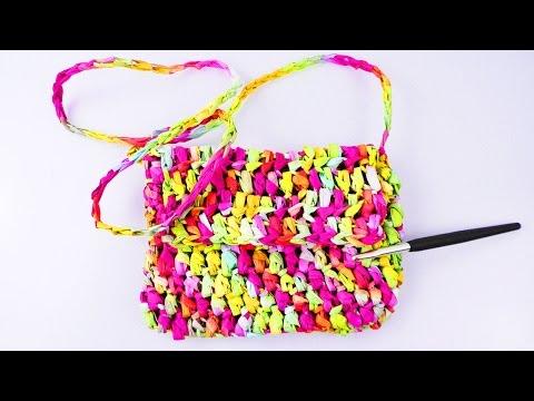 Leichte Sommer Tasche HÄKELN | Creative Paper – Tasche aus Papier selber machen | Umhänge Tasche