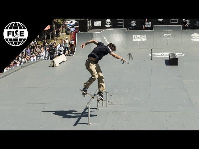 Joseph Garbaccio 3rd Place - Skateboard Street | FISE World Series Edmonton 2018
