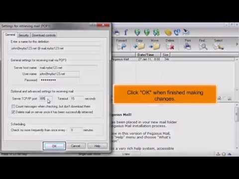 5) Configuring custom ports in Pegasus Mail by Gecko Websites