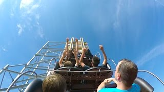 Switchback Roller Coaster Backseat POV 60 FPS ZDTs Amusement Park Texas