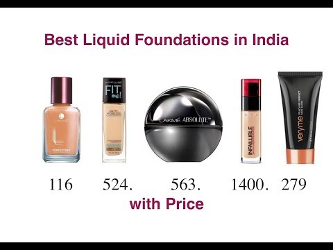 TOP Liquid Foundations in india with price | 2018