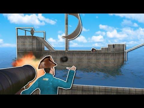 PIRATE SHIP BATTLE! - Garry's Mod Gameplay - Gmod Building Pirate Ship Battle