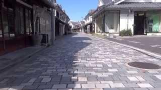 国木田独歩 松島詩子 白壁の町並み Town Yanai of the white wall