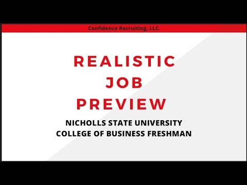 Realistic Job Preview-Confidence Recruiting LLC.