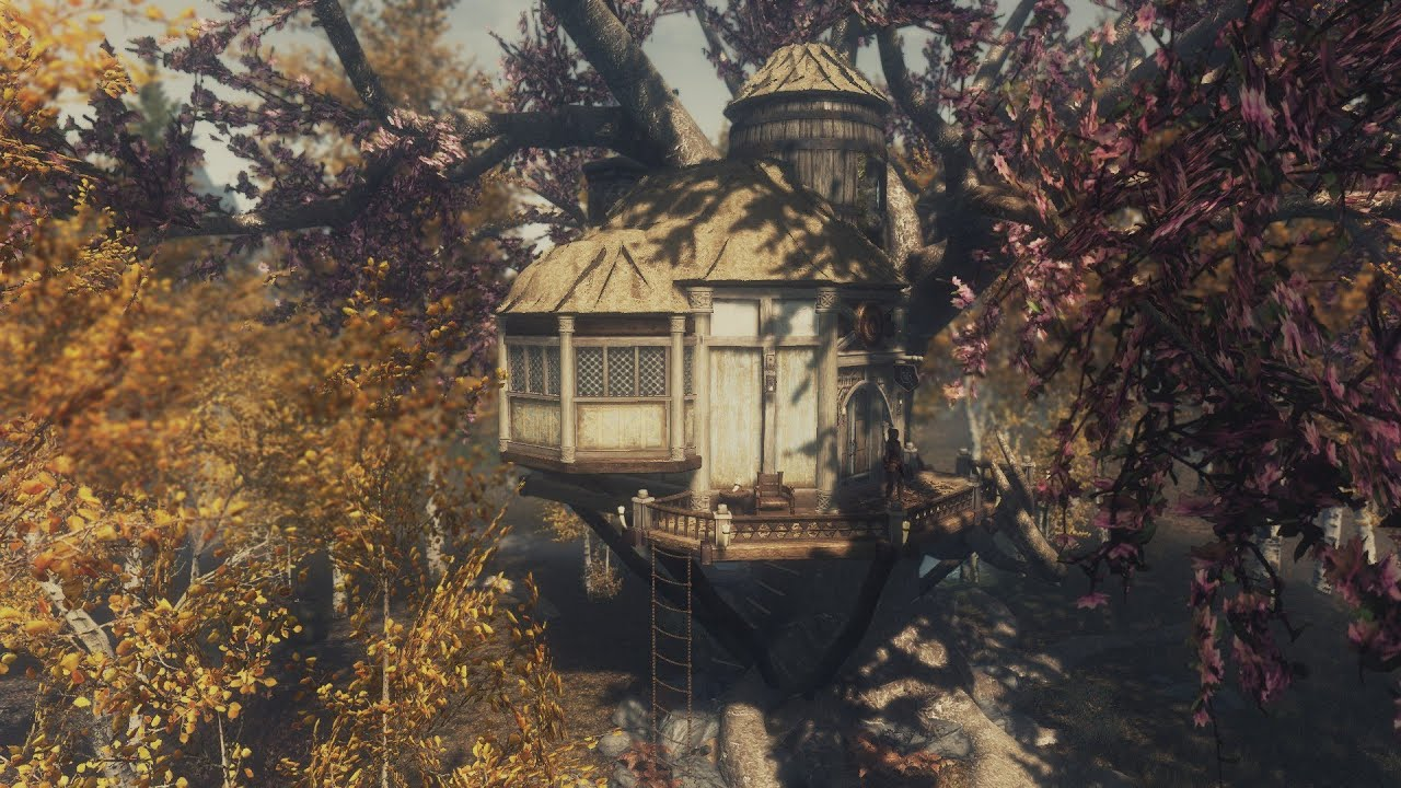 Awesome Treehouse For Skyrim Includes Quest Youtube