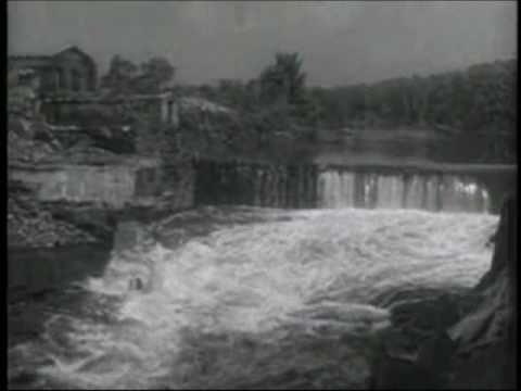 Magnesium Plant Fire During 1955 Quinebaug River Flood In Putnam Connecticut