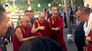 Dalai Lama arrives in Zurich, Switzerland