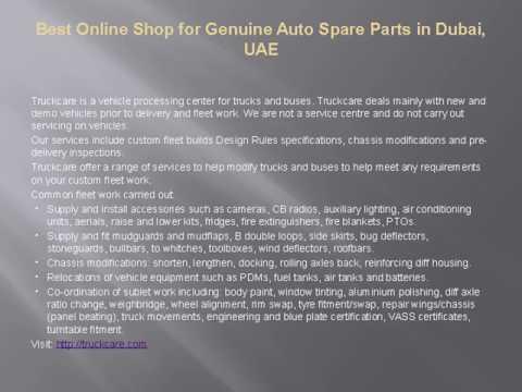 Best Online Shop for Genuine Auto Spare Parts in Dubai, UAE