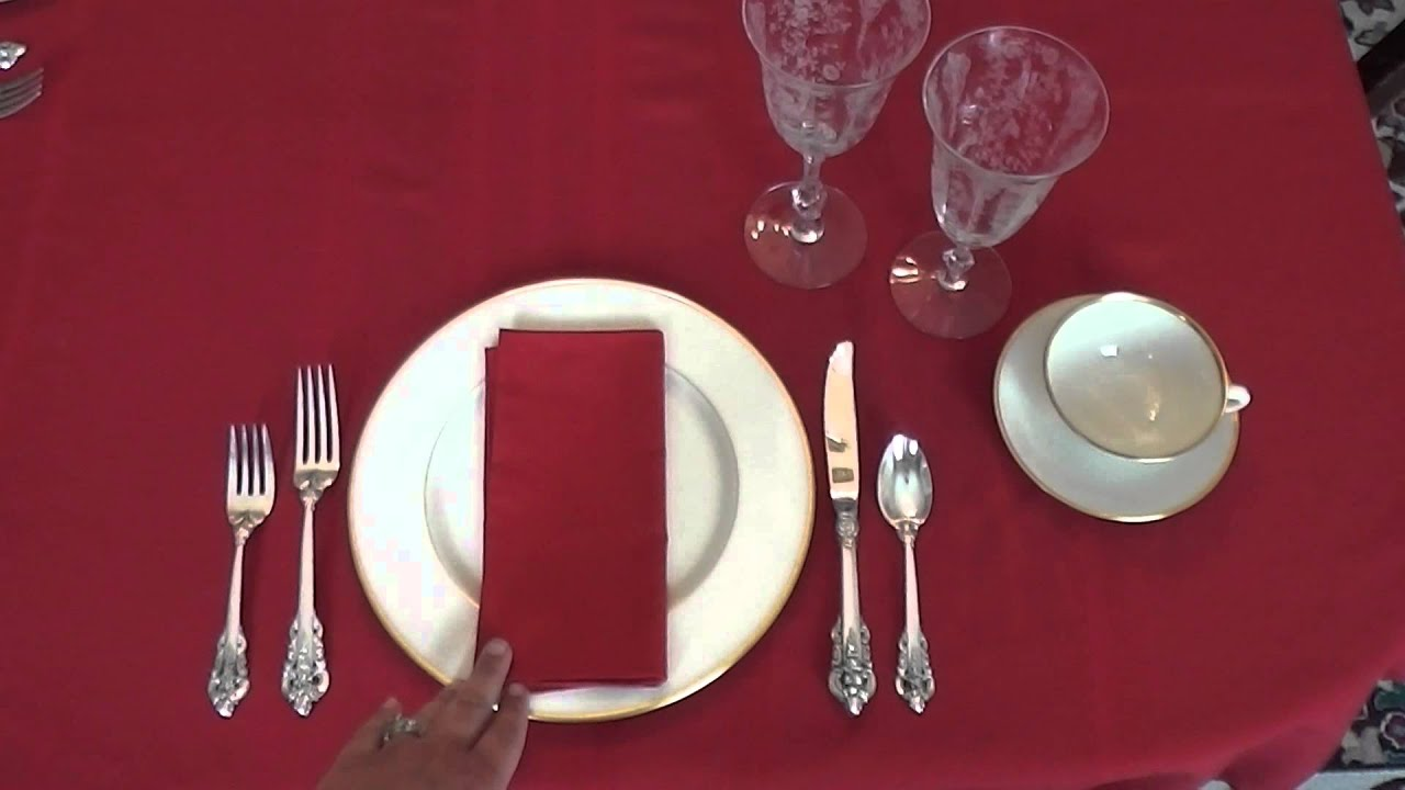Southern Staples: How to Set an Informal Table - YouTube