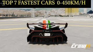The Crew 2 Top 7 Fastest Speed Hypercars 0-445KM/H