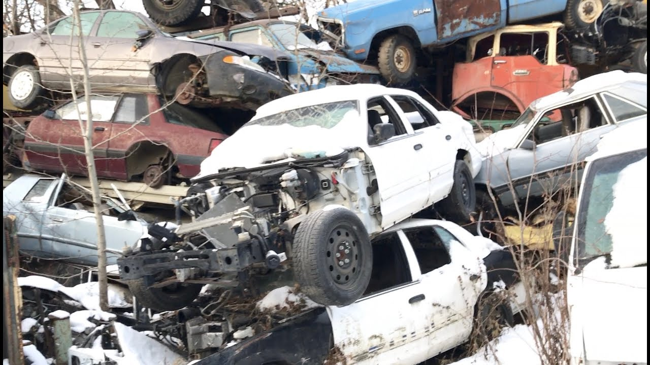 Visiting A Scrapyard. Police Cars, Military Trucks and More! - YouTube