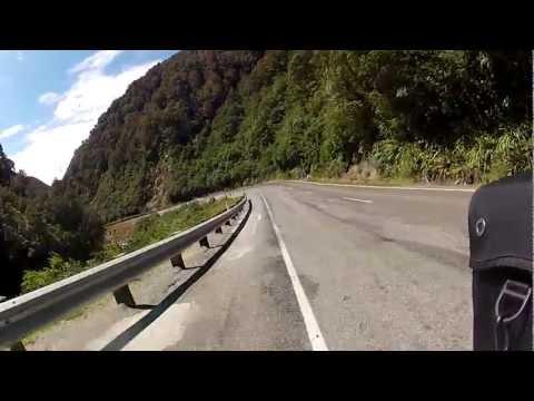 Arthurs Pass - New Zealand: 73,4 km/h on my bicycle.