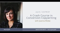 Crash Course in Conversion Copywriting with Joanna Wiebe