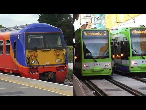 Trains & Trams at Wimbledon - 13/06/17