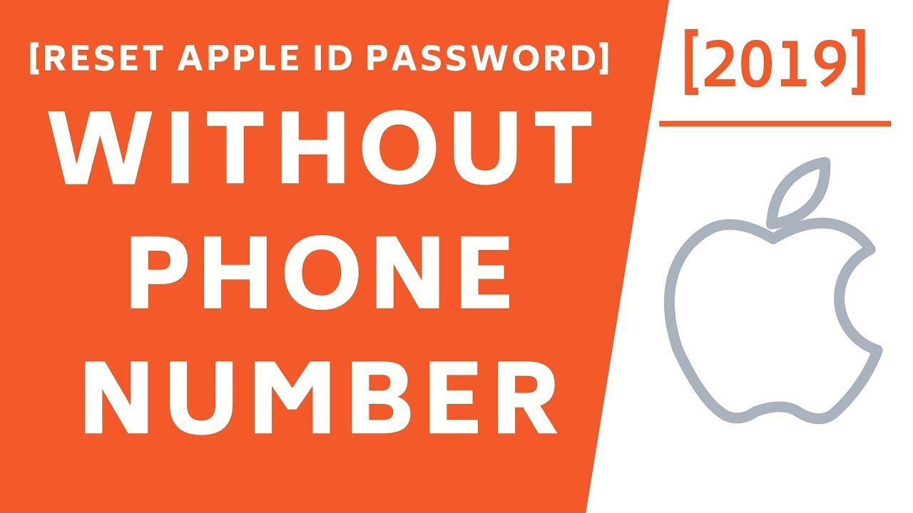 How to Reset Apple ID Password without Phone number! [2019]