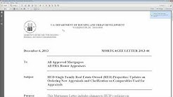 FHA lending limits on HUD owned homes