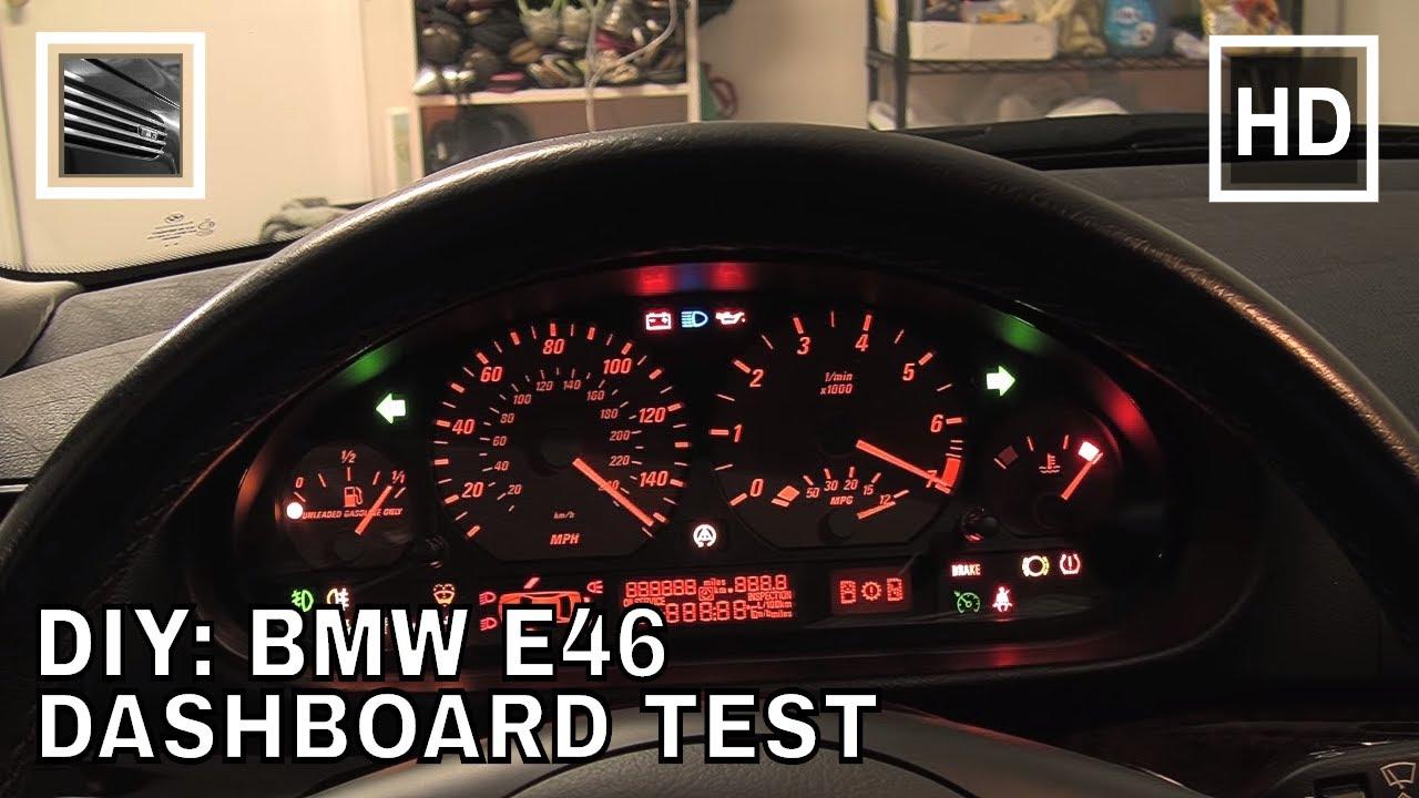 BMW Dashboard Test YouTube - Bmw e46 dashboard signs
