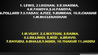 Mumbai Indians vs Chennai Super Kings fantasy 11 ipl 2018