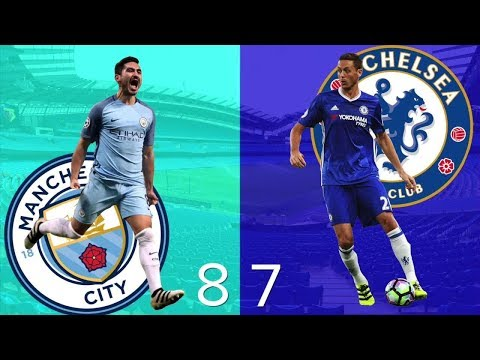 Fifa 18 Gameplay - Manchester City vs Chelsea | English Premier League | EPL exciting match