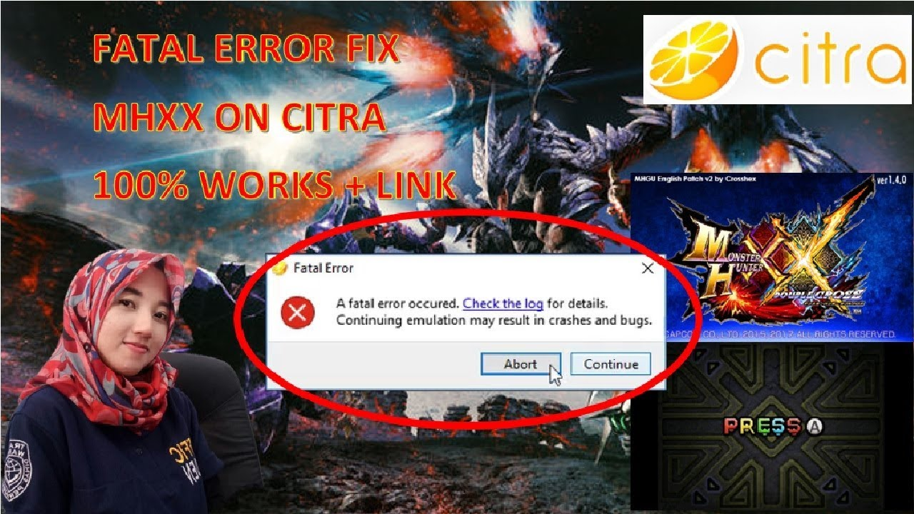 Fix Fatal Error | MHXX English Patch | Citra 100% Works with Link
